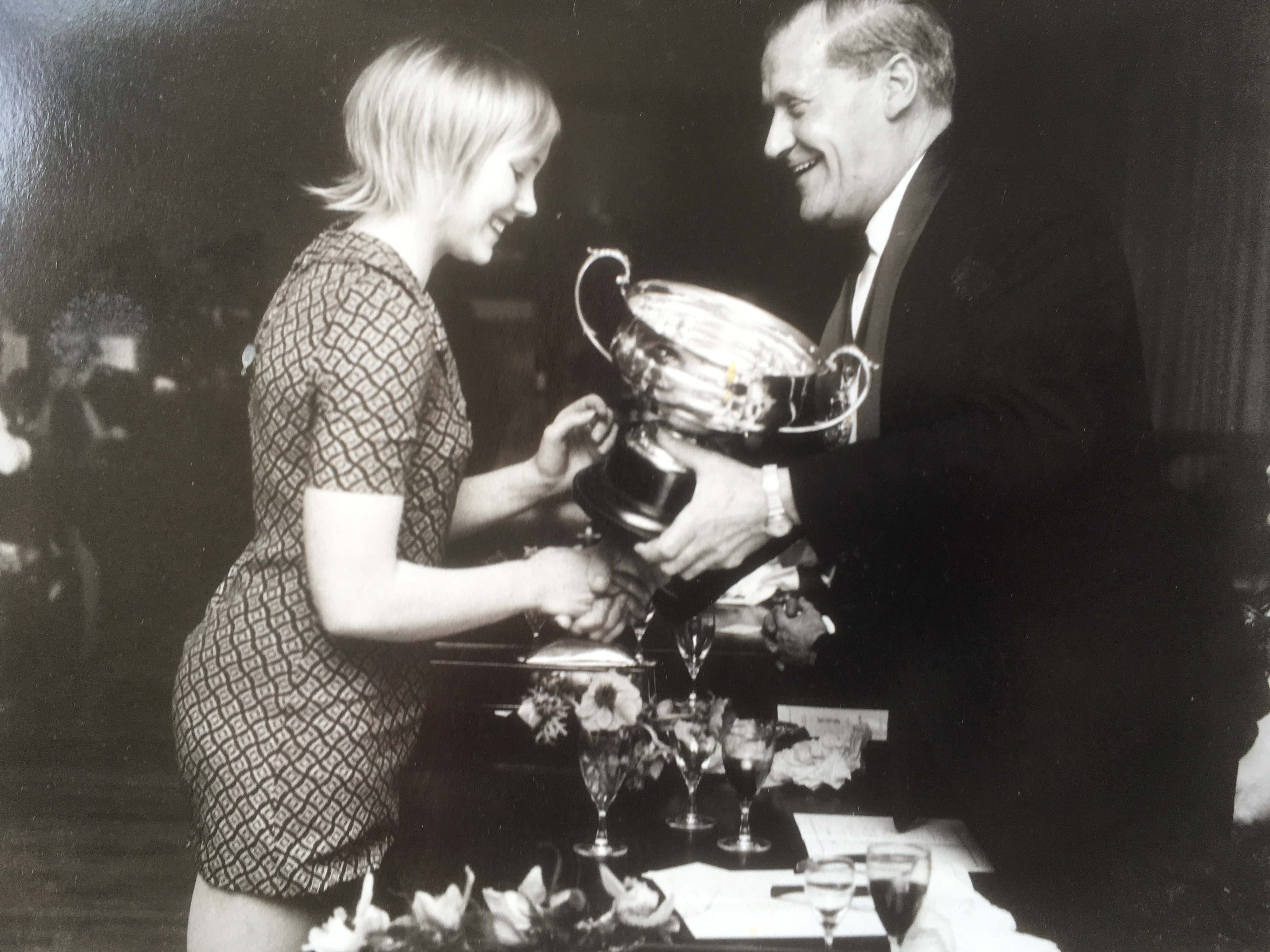 at 15 receiving trophy